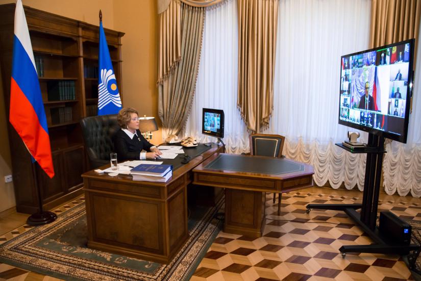 В Таврическом дворце прошло заседание Совета МПА СНГ