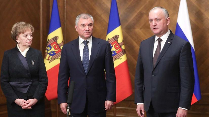 Вячеслав Володин и Зинаида Гречаный обсудили вопросы развития молдавско-российского сотрудничества в парламентской сфере