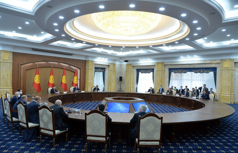 Наблюдатели от МПА СНГ встретились с руководством Жогорку Кенеша Кыргызской Республики