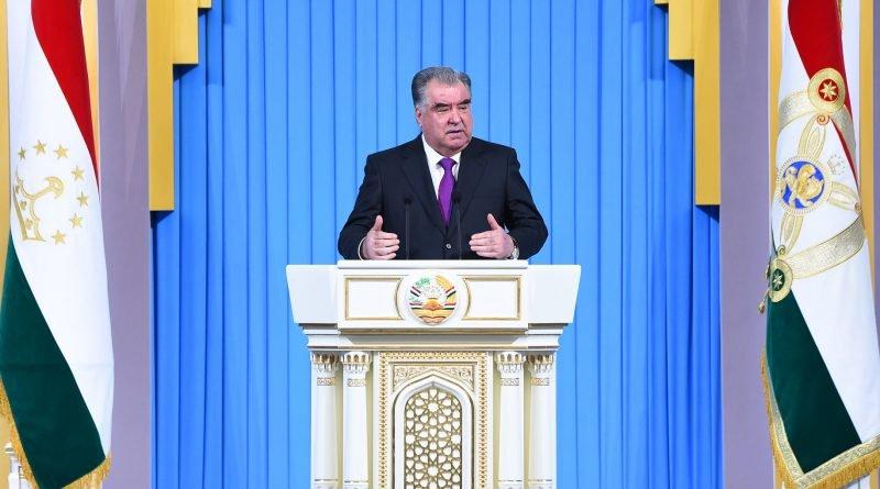 Эмомали Рахмон выступил с посланием к парламенту Республики Таджикистан