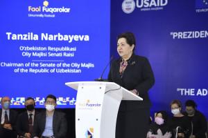 Танзила Нарбаева приняла участие в обсуждении вопросов развития гражданского общества в Республике Узбекистан
