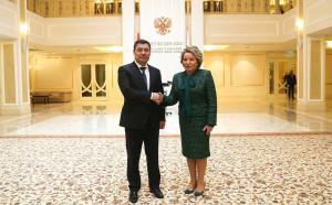 Валентина Матвиенко и Садыр Жапаров обсудили вопросы парламентского взаимодействия