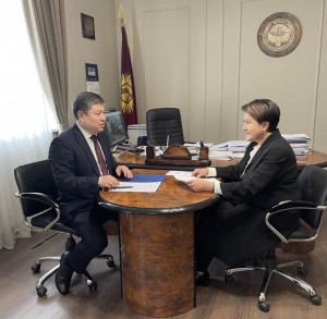 Nurbek Satvaldiev Met With Chair of Central Commission on Elections and Referenda of Kyrgyz Republic