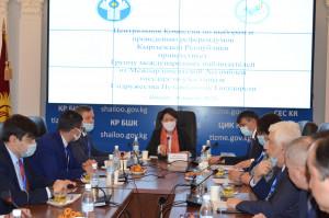 Наблюдатели от МПА СНГ посетили ЦИК Кыргызской Республики