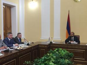 Наблюдатели от МПА СНГ встретились с руководством Национального Собрания Республики Армения