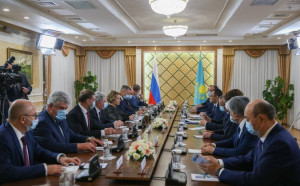 Valentina Matvienko and Maulen Ashimbaev Met in Nur-Sultan