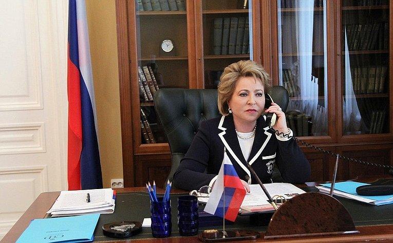 Валентина Матвиенко и Танзила Нарбаева обсудили межпарламентское сотрудничество