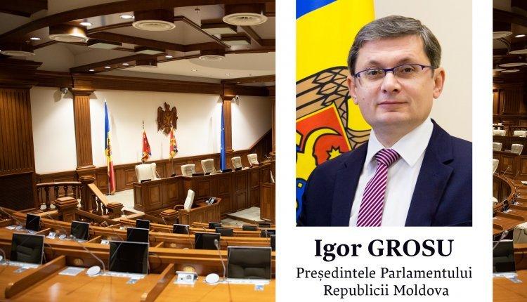 Игорь Гросу избран Председателем Парламента Республики Молдова