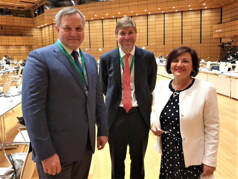 Генеральный секретарь Совета МПА СНГ провел ряд встреч на полях Всемирной конференции спикеров парламентов в Вене