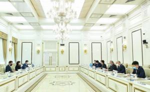 Sahiba Gafarova Holds Meeting With Delegation of Parliament of Republic of Kazakhstan