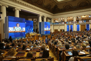 Plenary Session of Third Eurasian Women's Forum Takes Place in Tavricheskiy Palace