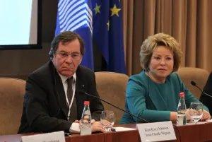 Валентина Матвиенко и Жан-Клод Миньон сделали совместное заявление