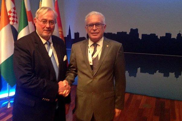 Генеральный секретарь Совета МПА СНГ Алексей Сергеев встретился с Генеральным секретарем ПА ОБСЕ Спенсером Оливером
