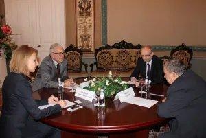 Словацкие дипломаты провели переговоры в штаб-квартире МПА СНГ