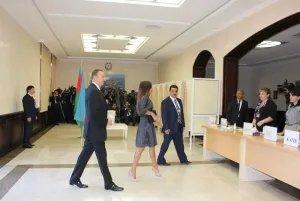 Действующий Президент Азербайджана отдал свой голос на выборах главы государства