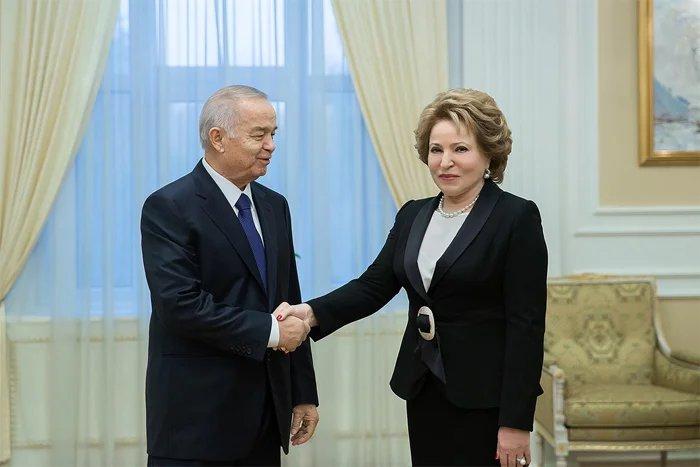 О развитии международного сотрудничества Валентина Матвиенко говорила с Президентом Республики Узбекистан