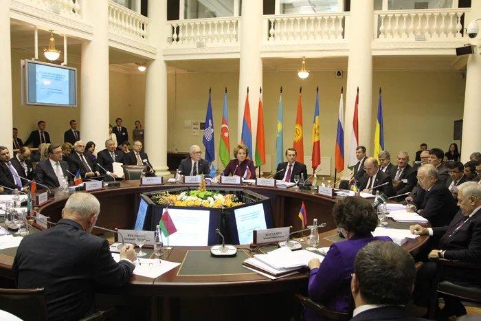 Заседание Совета Межпарламентской Ассамблеи СНГ прошло в Таврическом дворце