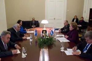 Глава МПА СНГ встретилась со спикером Парламента Азербайджанcкой Республики