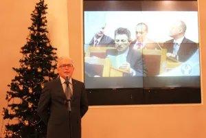 Алексей Сергеев поздравил сотрудников Секретариата Совета МПА СНГ с Новым годом