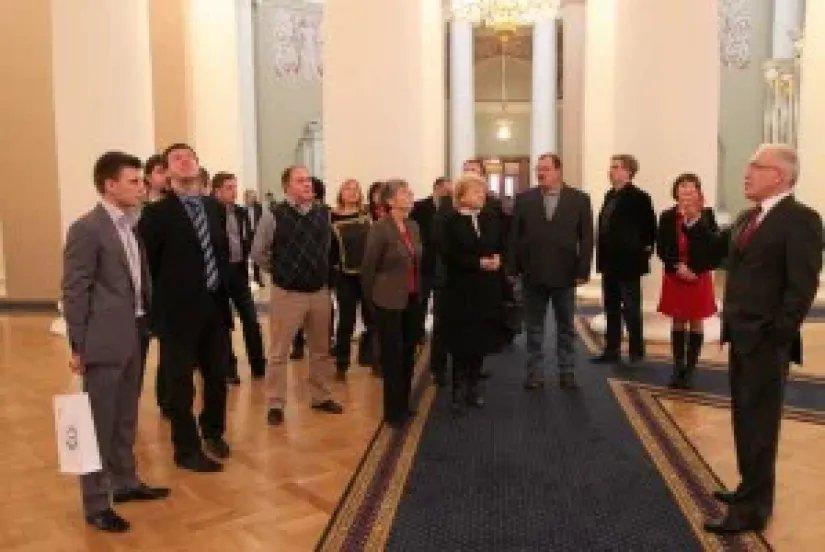 Алексей Сергеев встретился с представителями СМИ Петербурга и Москвы