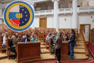 Члены Европейского Молодежного Парламента посетили штаб-квартиру МПА СНГ