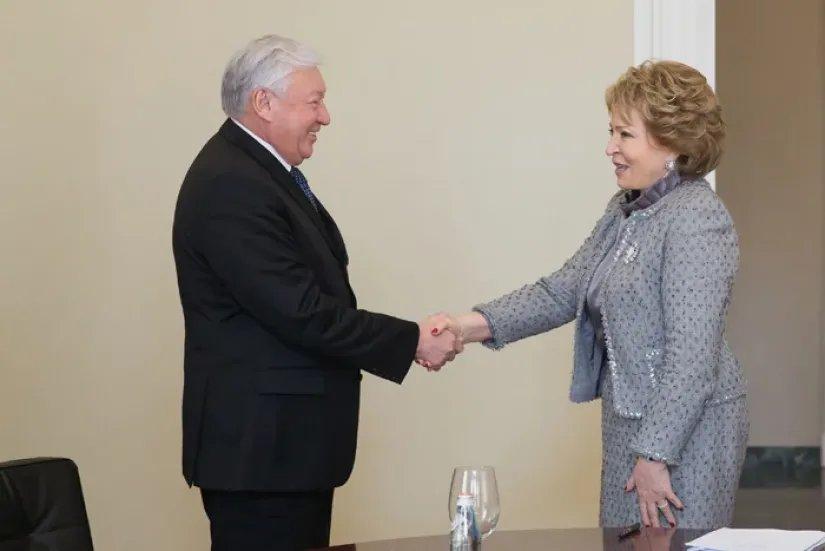 Председатель Совета МПА СНГ встретилась с Председателем Мажилиса Парламента Республики Казахстан