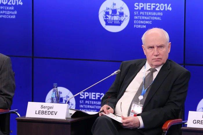 Сергей Лебедев  участвует в работе ПМЭФ 2014