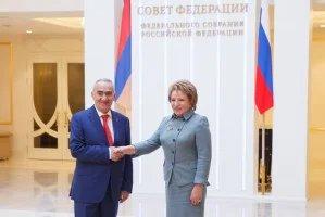Валентина Матвиенко провела двустороннюю встречу с Галустом Саакяном