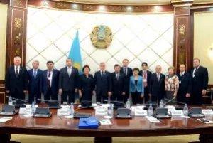 Члены группы наблюдателей встретились с заместителем Председателя Мажилиса Парламента Республики Казахстан