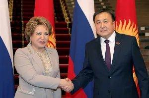 В рамках официального визита в Кыргызскую Республику Валентина Матвиенко встретилась с Асылбеком Жээнбековым