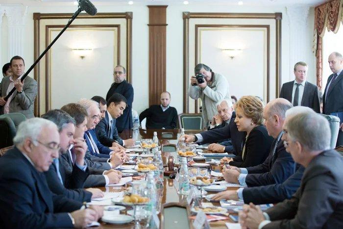 Валентина Матвиенко встретилась с послами государств-участников МПА СНГ