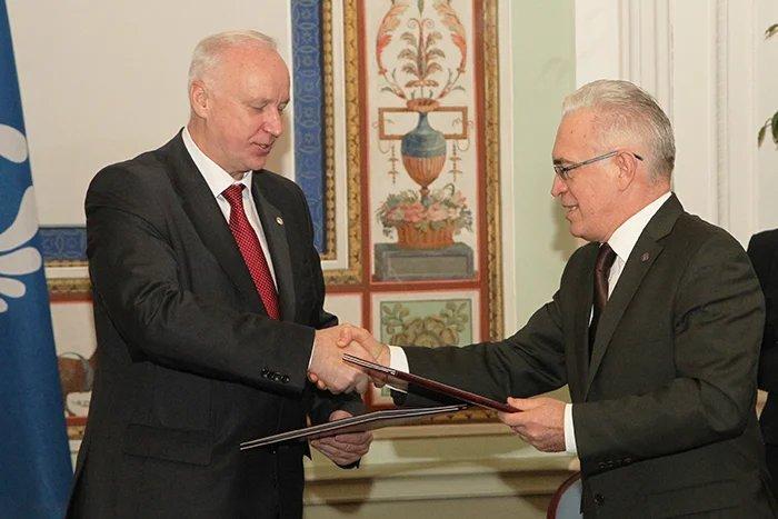 Алексей Сергеев и Александр Бастрыкин подписали меморандум о взаимодействии МПА СНГ и Следственного комитета России