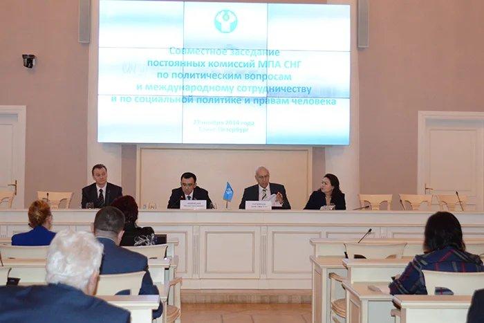 В Таврическом дворце прошло совместное заседание постоянных комиссий МПА СНГ по политическим вопросам и международному сотрудничеству и по социальной политике и правам человека