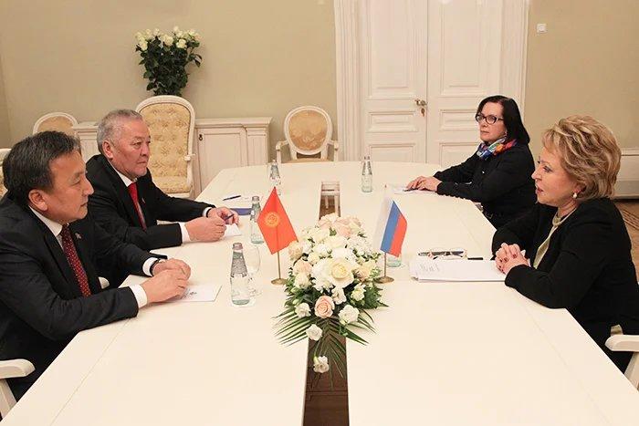 Председатель Совета МПА СНГ провела двустороннюю встречу с Председателем Жогорку Кенеша Кыргызской Республики