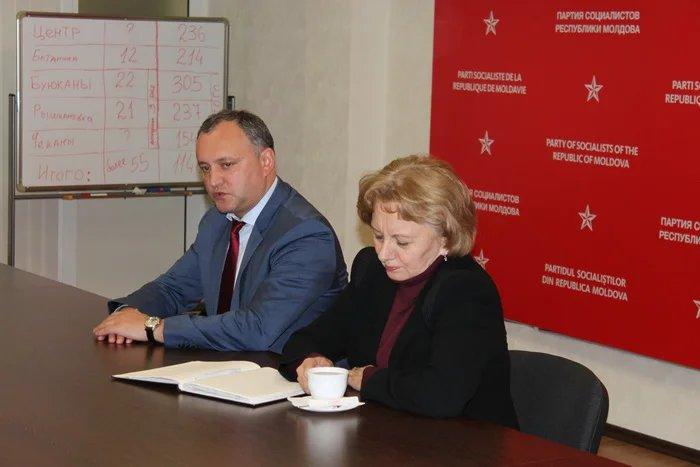 Миссия наблюдателей от МПА СНГ встретилась с лидерами Партии социалистов Республики Молдова Игорем Додоном и Зинаидой Гречаный