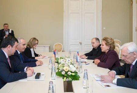 Председатель МПА СНГ встретилась с Председателем Национального Собрания Республики Армения