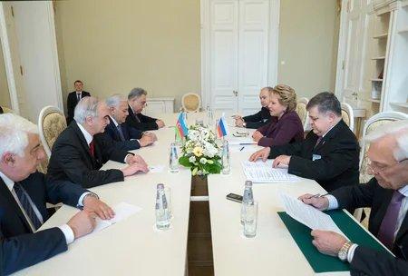 Валентина Матвиенко поблагодарила азербайджанскую делегацию за активную работу в МПА СНГ