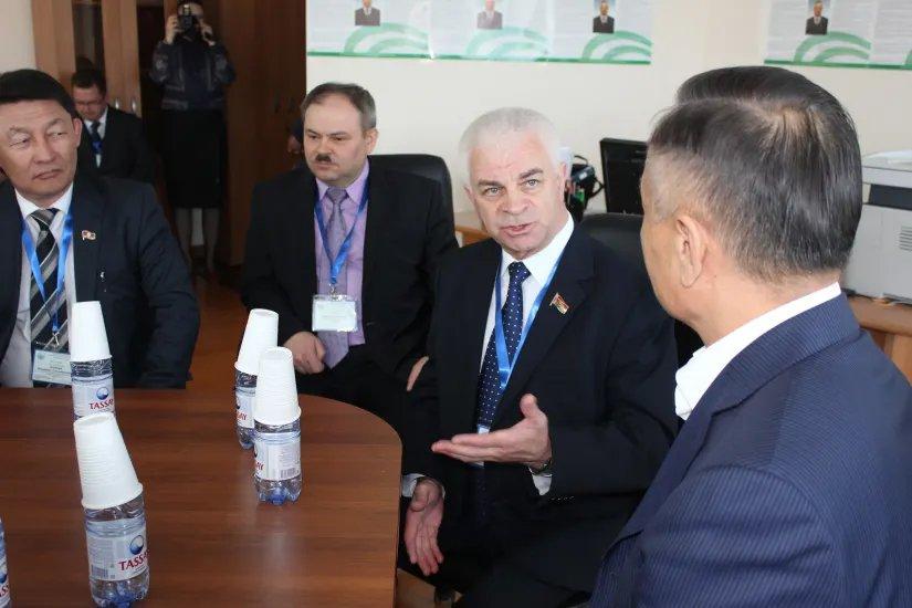 Прошла встреча наблюдателей от МПА СНГ с кандидатом на пост Президента Республики Казахстан Абельгазы Кусаиновым