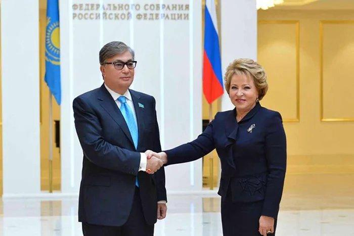 Валентина Матвиенко провела встречу с  Касым-Жомартом Токаевым