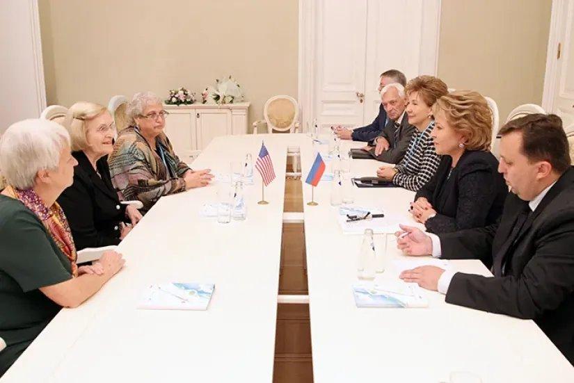 Валентина Матвиенко: «У России и США есть позитивная повестка дня, над которой надо работать»