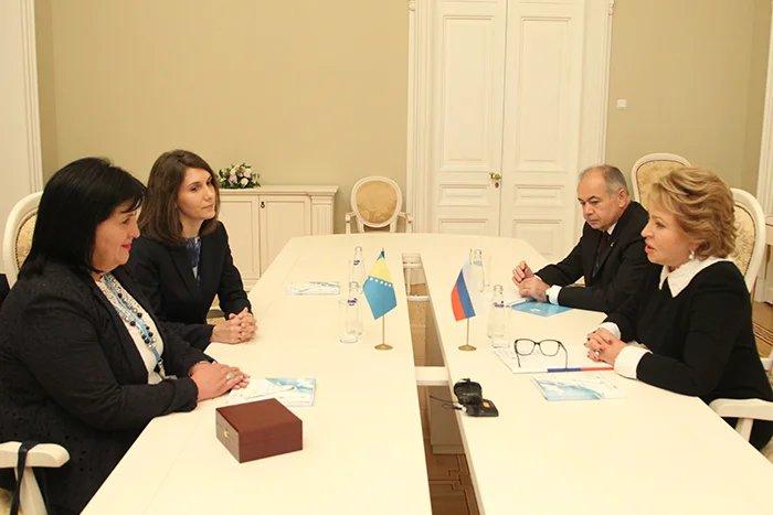 Сребренка Голич рассказала Валентине Матвиенко о работе делегации Республики Сербской на Евразийском женском форуме