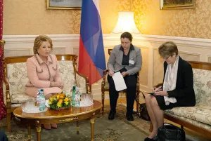 Валентина Матвиенко провела встречу с Анн Брассер