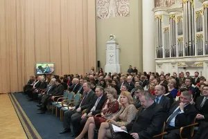 Сотрудников Секретариата Совета МПА СНГ поздравили с наступающим Новым годом
