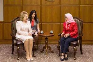 Прошла встреча Председателя Совета МПА СНГ со спикером Парламента Республики Сингапур