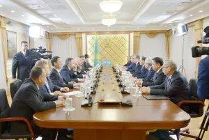 Прошла встреча наблюдателей от МПА СНГ с Председателем Сената Парламента Республики Казахстан Касым-Жомартом Токаевым