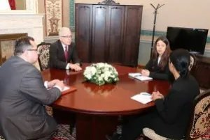 Алексей Сергеев провел ряд встреч с участниками заседаний постоянных комиссий МПА СНГ