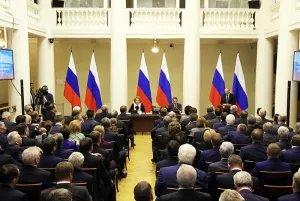 Владимир Путин встретился с членами Совета законодателей Российской Федерации в Таврическом дворце