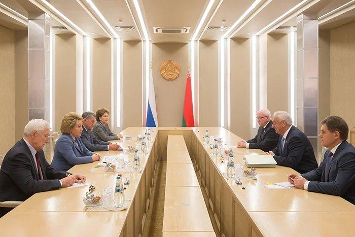 Председатель Совета МПА СНГ встретилась с Председателем Совета Республики Национального собрания Республики Беларусь