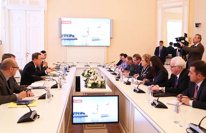 Председатель Совета МПА СНГ провела встречу с Генеральным секретарем ООН