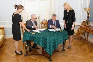 Алексей Сергеев и Владимир Шамахов подписали договор о создании учебно-научного центра «Международное парламентское сотрудничество»